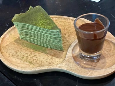 Green Tea Crepe Cake##2