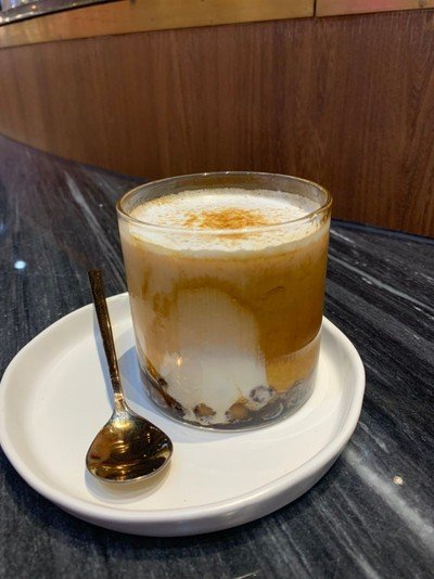 Dirty Milk Tea with Lava Pearl