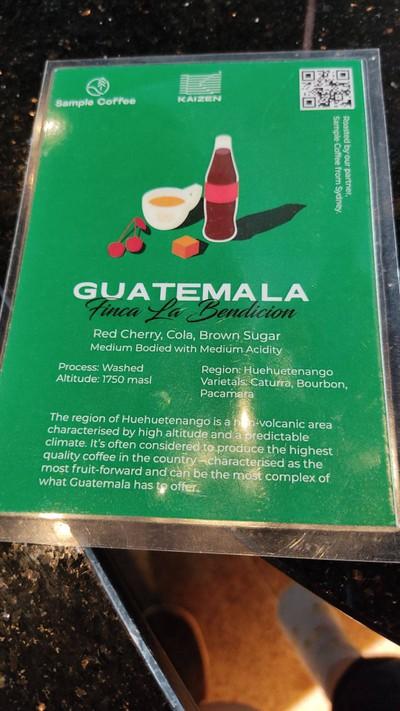 Guatemala Finca La Bendictiom