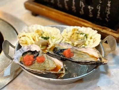หอยเชลล์ญี่ปุ่นเนยกระเทียม