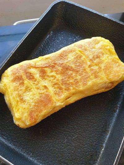 วิธีทำ ปังไข่ชีสม้วน