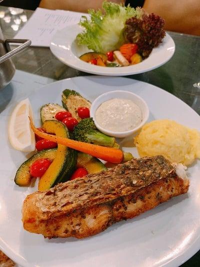 สเต็กปลากระพงขาว