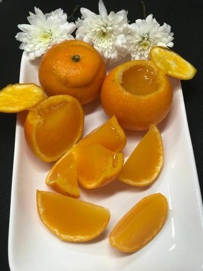 วุ้นน้ำส้มสดในลูกส้ม 🍊🍊