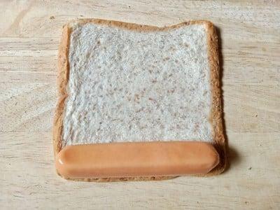 วิธีทำ ขนมปังไส้กรอกทอด