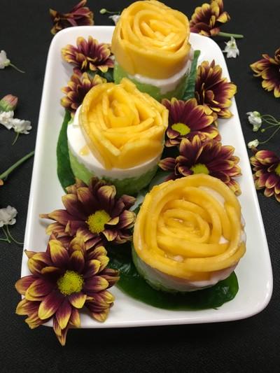 กุหลาบซ่อนรัก Mango rose Summer love 🌹🌹 สูตรหวานน้อย less sugar
