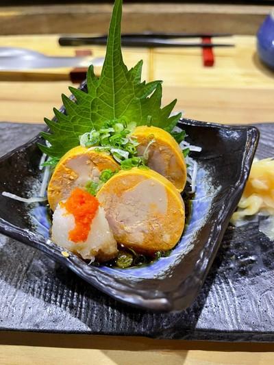 ตับปลาอังโกะกับซอสพอนสึ