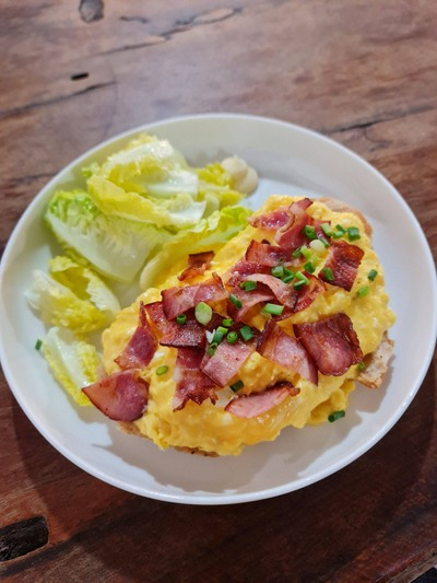 Egg and Bacon Sourdough