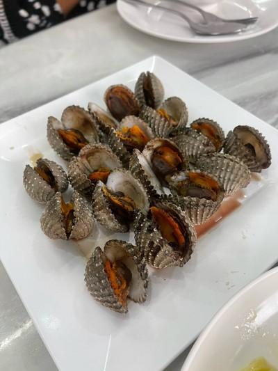 หอยแครงเผา