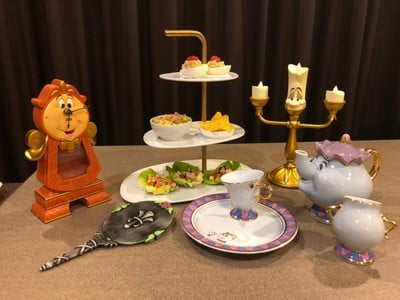 Tuna Afternoon Tea with Princess Belle Squad