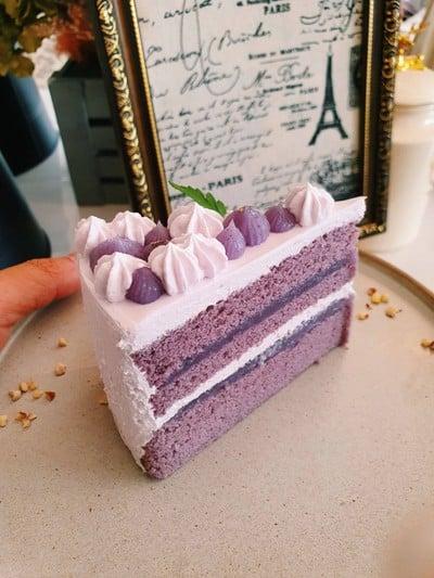 Taro Fresh Cream Cake