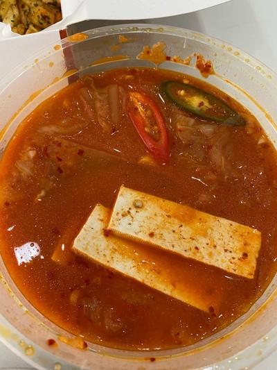 ซุปกิมจิกับข้าว
