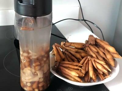วิธีทำ น้ำกระชายผสมขิงและน้ำส้ม