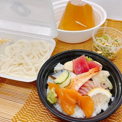 ชุดชิราชิ(อุด้ง) MINI-CHIRASHI Set meal (Udon) ちらしセット(うどん)