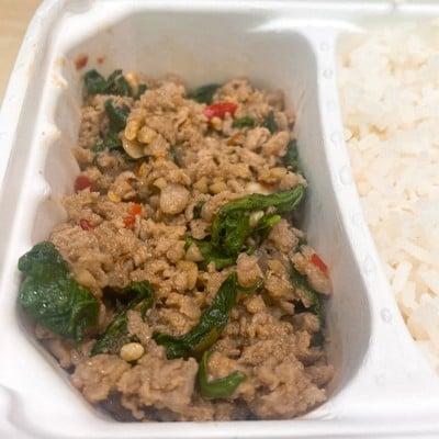 (DL)ข้าวกะเพราหมูสับคุโรบุตะ