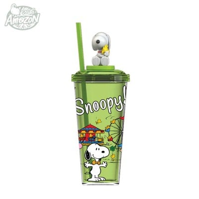 แก้วพลาสติก AMZ x SNOOPY (เขียว)