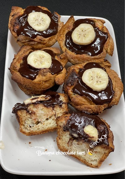 Banana Chocolate Tart 🍌