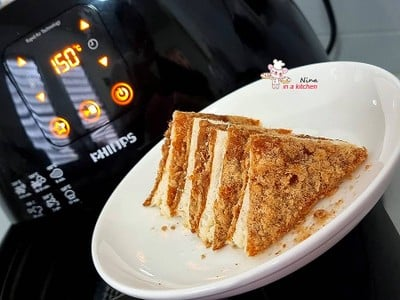 [Philips Airfryer] ขนมปังหมูหยองชีสน้ำพริกเผา