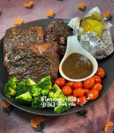 ซี่โครงบาร์บีคิว BBQ Pork Ribs