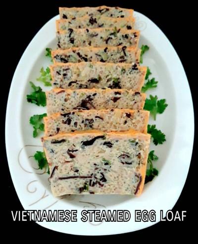 ไข่ตุ๋น(นึ่ง)เวียดนาม/มีทโลฟไข่นึ่ง vietnamese steamed egg meatloaf
