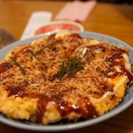 Okonomiyaki aka : พิซซ่าญี่ปุ่น