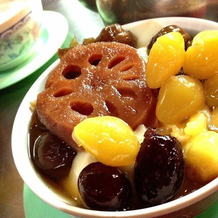 เต้าฮวยผลไม้จีน (Assorted Bean with Chinese Fruit)