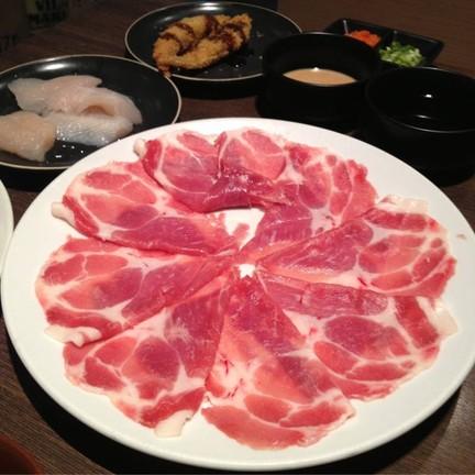 เนื้อหมูเรียงสวยมาในจาน