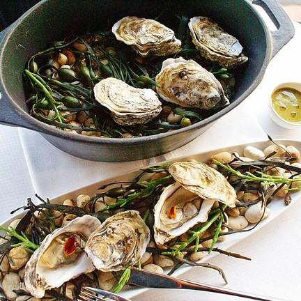 Steamed Tsarskaya Oysters