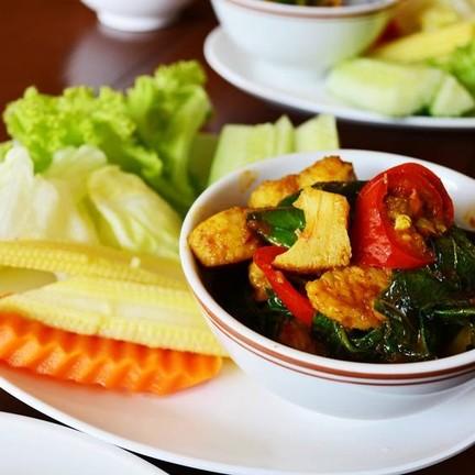 ใบลาปลา และผัก