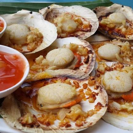 หอยเชลล์เผาเนย ถ้าร้อนต้องอร่อยมาก