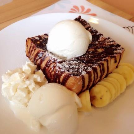 Choc Banana Toast
