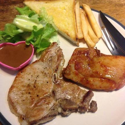เนื้อ + ไก่