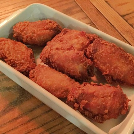 Deep fried marinated chicken wings