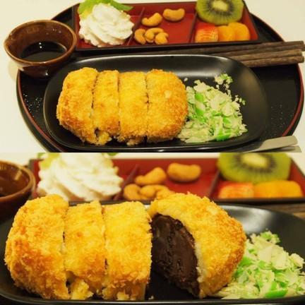 Tonkatsu Icecream Brownie (145บาท)