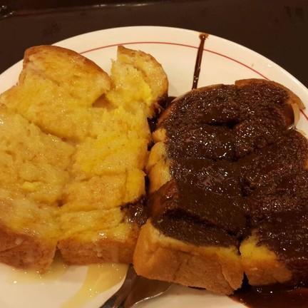 ขนมปังหน้าเนยนมและช็อคโกแลตจ๊ะ