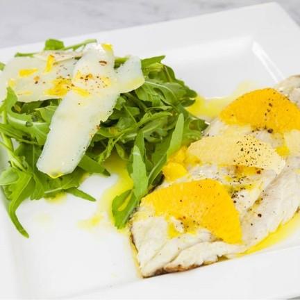 Thai Seabass Orange & Lemon With Rocket Salad