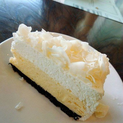 white choc cheese cake (signature)