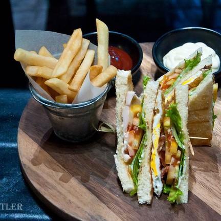 Club Sandwich, French Fries (250 B)