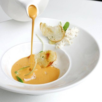Blue Crab with Brandy Soup
