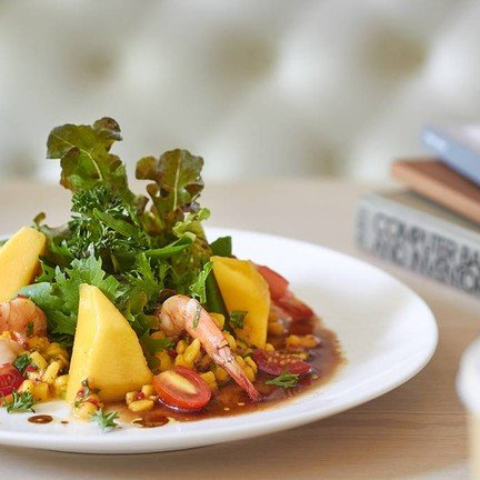 """Prawn with Mango Salsa"" (195.-)"