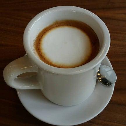 Hot Americano With Milk Foam No Syrup