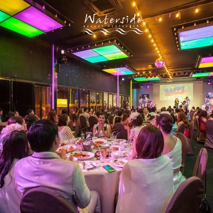 บรรยากาศงานวันเกิด ห้อง K100 รองรับได้ 150-200 ที่นั่ง