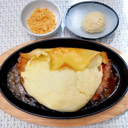 มาพร้อมไอศครีมรสมันญี่ปุ่นและครัมเบิ้ล