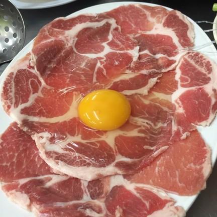หมูสไลด์ตอกไข่เพิ่มเอง น่ากินอะ