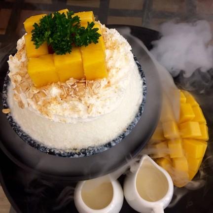 บิงซูมะม่วงและชีสเค้ก