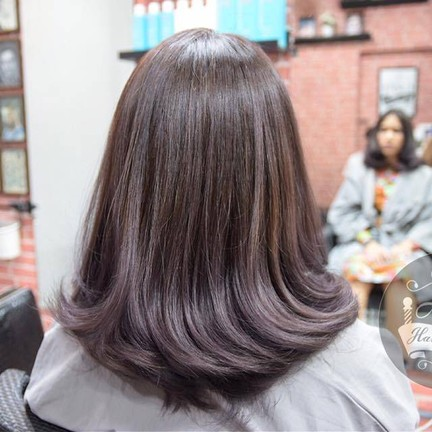 Metallic Ash Purple Hair Color