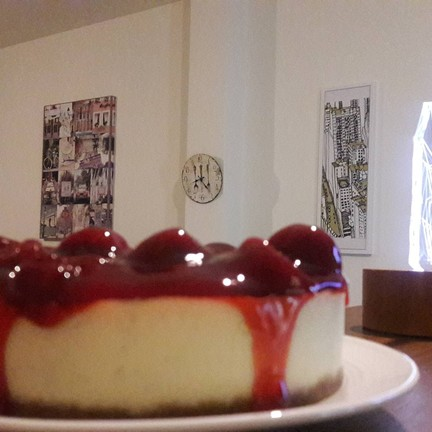 Come and try  my homemade strawberry cheesecake