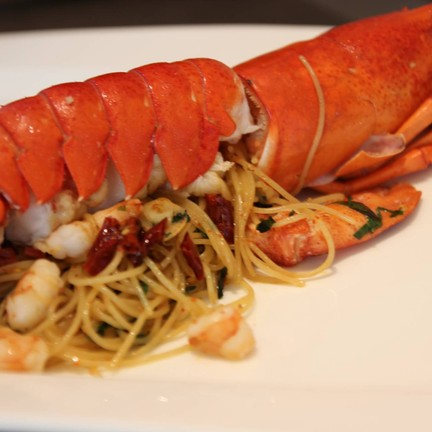 spaghetti canadian lobster