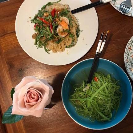 ดอกกุหลาบจากคลาส bean paste rose for valentines day จาก pushface