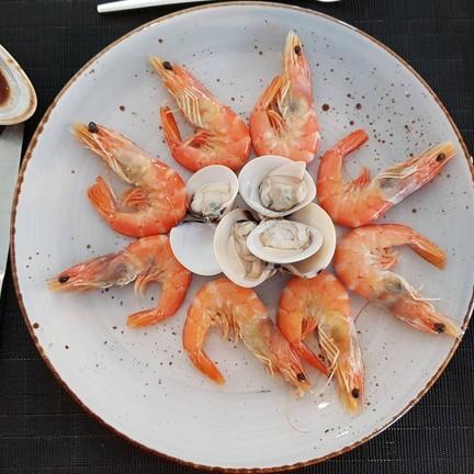 กุ้งสดหวานดี หอยบางตัวไม่สด
