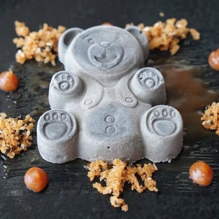 sesame parfait, starfruit, caramel, crumble